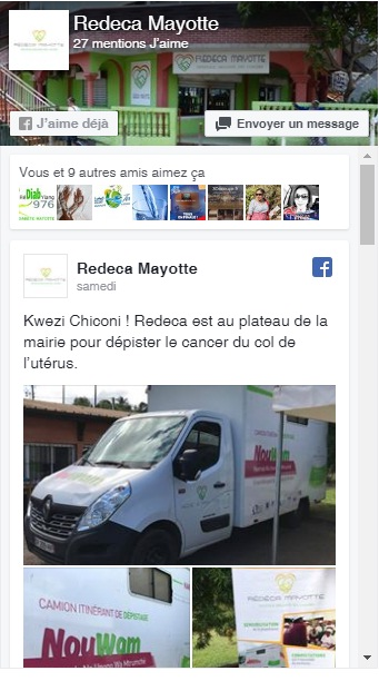 Page Facebook Redeca Mayotte